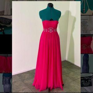 Hot pink Fiesta Chiffon Dress evening Gown